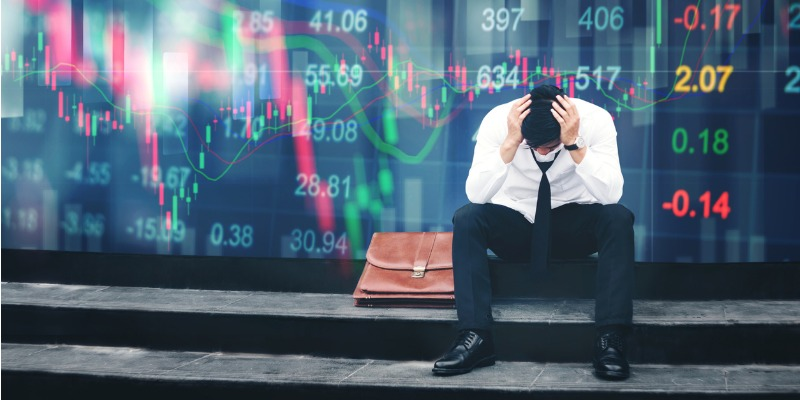 Image depicting person when stock market crashes